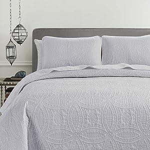 Austin Bedspread Set, White