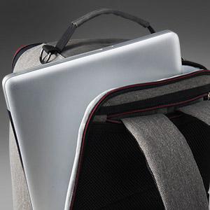 Bolsillo para portátil/iPad, mochila de mano