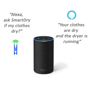 alexa smartdry smart home sensor wireless laundry sensor smart home clothes dryer accessory