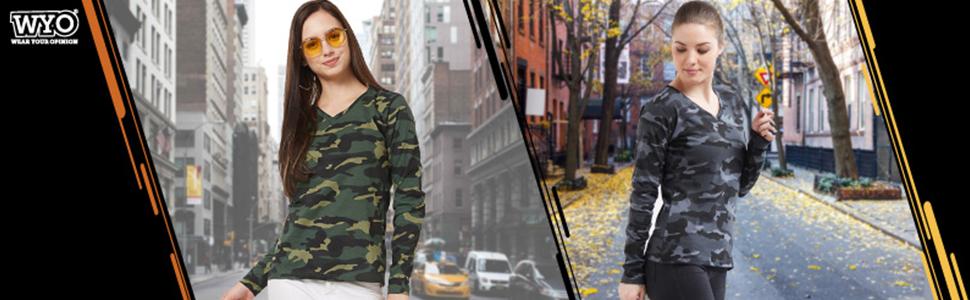 Women Army Tshirts