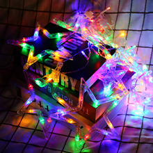 multicolor colorful led star curtain string lights