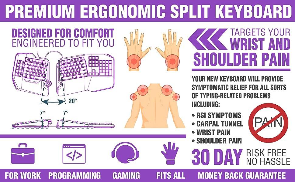 Split Keyboard for carpal tunnel Arthritis