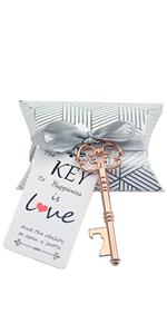 vintage key bottle opener wedding favor with tag wedding skeleton wedding favor bottle opener key