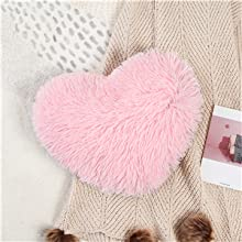 ●15.7x15.7 inch heart-shaped pillow case with insert for maximum cuddling and satisfaction.