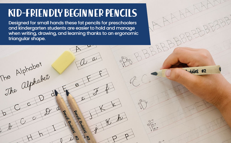 pencils writing student beginners jumbo large pencils for preschoolers learning finger fitter pencil