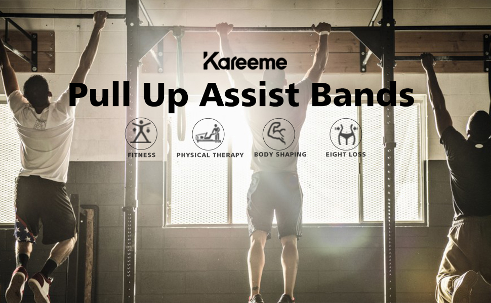 Pull Up Assist Bands Resistance Bands for Stretching Squatting Powerlifting