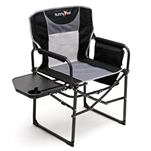 Sunnyfeel, Camping Chair, Oversized, Heavy Duty, Lightweight, Rocking Chair, Director Chair