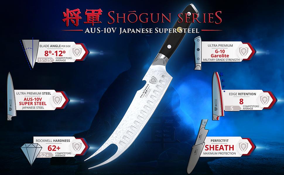 butcher slicer meat cleaver dalstrong shogun series japanese steel knife professional high carbon