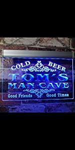 ADVPRO LED neon sign Personalized fonts text Traditional Color Switch light man cave cold beer