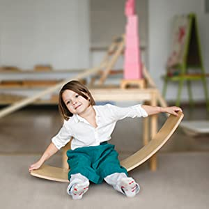 Jurns Wooden Balancing Board for Toddlers