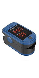 pulse oximeter blue