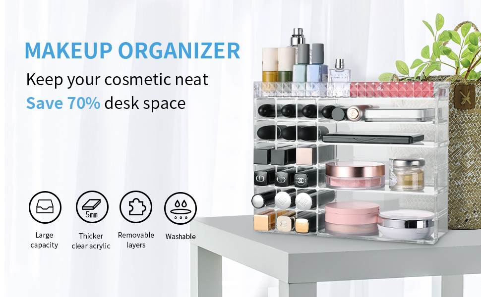 make up organizers and storage