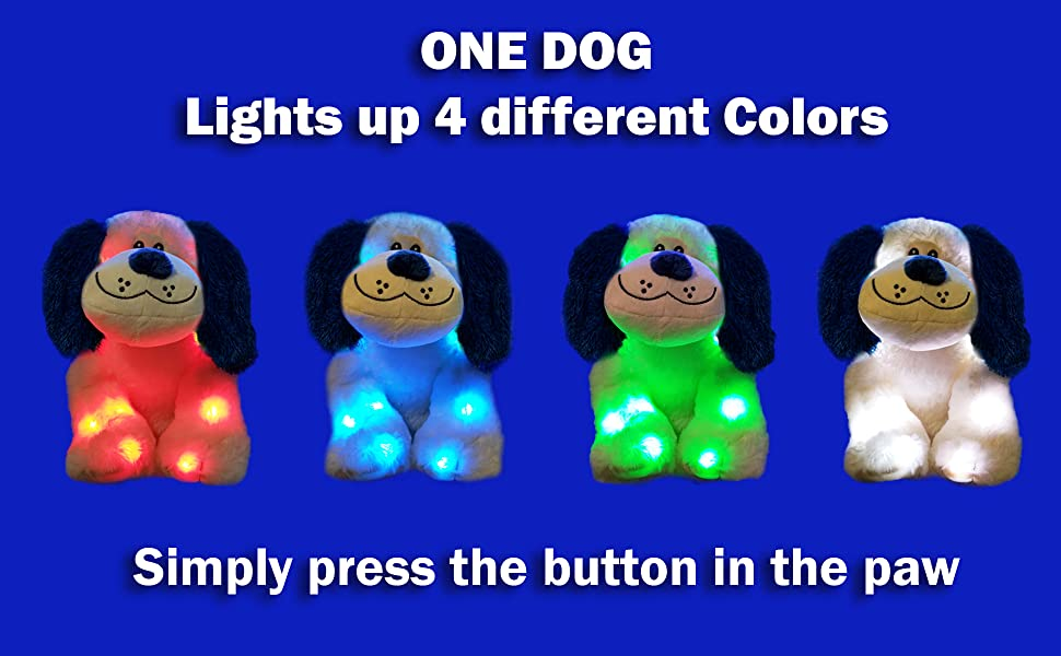 led plush stuffed animal night light color changing colorful christmas toy gift toddler boy girl