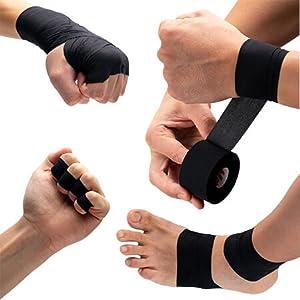 athletic tape black, black sports tape, gym, boxing