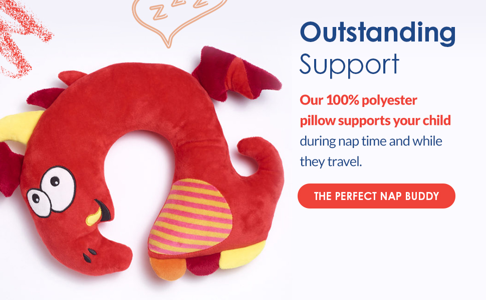 Its ergonomic design provides support for their back and spine during nap time while they travel.