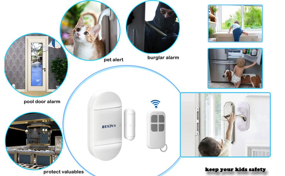 loud door alarm for home