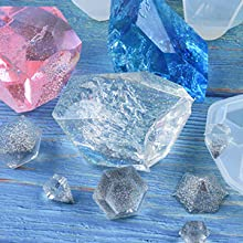 MZY1188 Moule en Diamant en Silicone 3 en 1 Outil de Fabrication de Bijoux Type de Forme de Coupe Bricolage Moules en r/ésine /époxy pour Outil de Fabrication de Bijoux
