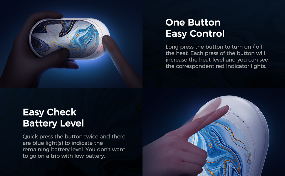 ONE BUTTON EASY CONTROL BATTERY LEVEL