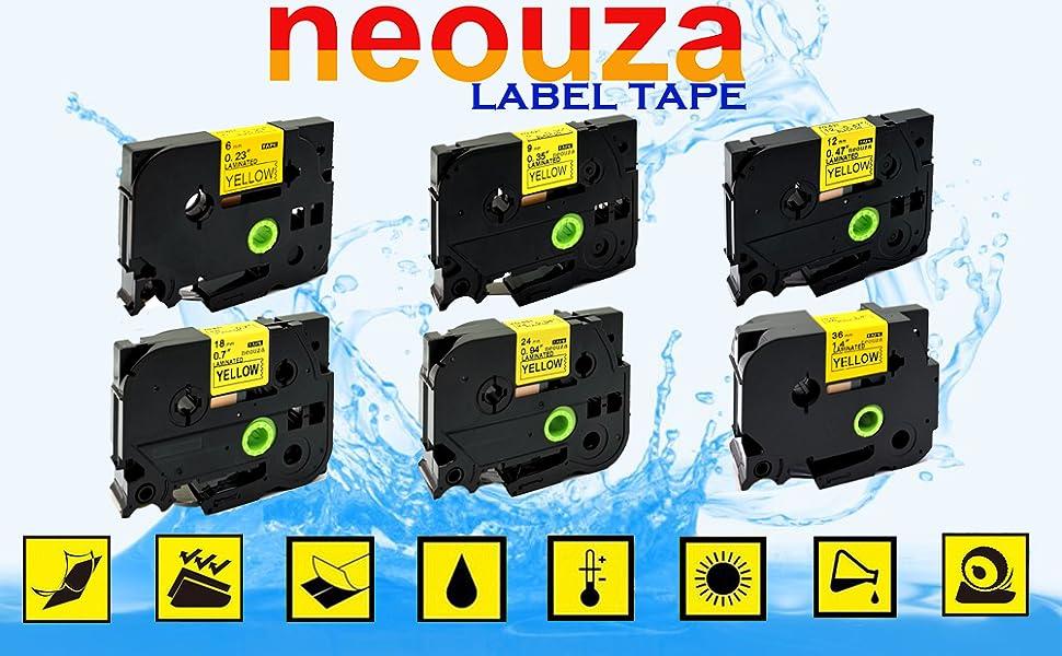 12mm x 8m UniPlus Compatible con Brother TZe-631 TZe631 12mm Negro sobre Amarillo Cintas de Etiquetas para Brother PTouch P-Touch 1000 PT H101C H100 E100VP D210 E500VP P700 H107B Pack de 3