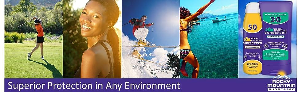 rocky mountain sunscreen best spf protection water ski snow sports sweat sun