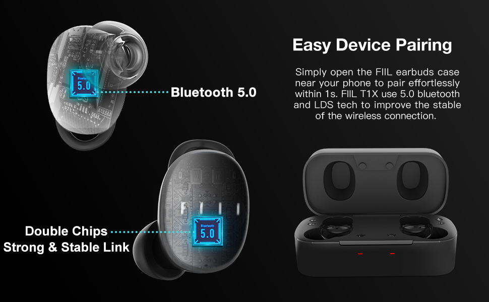 Wireless Earbuds Bluetooth Dynamic Driver Headphones One Step Pairing DSP Noise-Canceling Sweatproof
