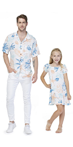 Father Daughter Matching Sets Hawaiian Style