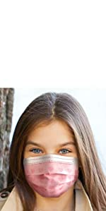 Kids face masks girls pink