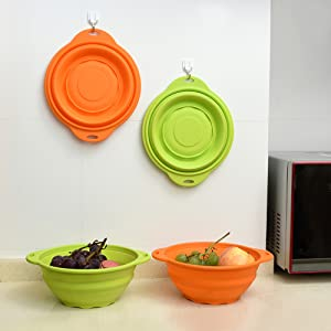 Jovilife Collapsible 9 Cups//71oz Squish Silicone Mixing Bowl,Orange Haifu COMINHKPR137415