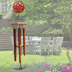 Sympathy Wind Chime Bronze in the garden
