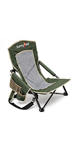 Sunnyfeel, Camping Chair, Oversized, Heavy Duty, Lightweight, Rocking Chair, Director Chair, Low