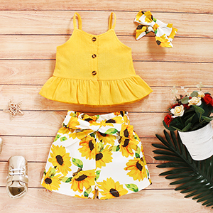 Toddler Girl Sunflower Outfit