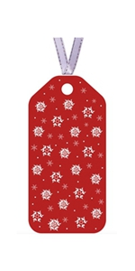 snowflakes colorful paper gift tags Christmas