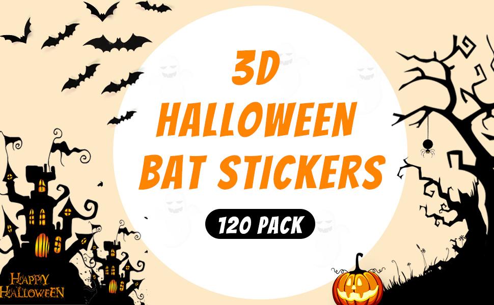 3D Bats Decoration