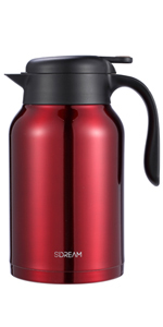68 oz coffee carafe, carafe for ice drink, carafe for cold, keep hot,red coffee carafe