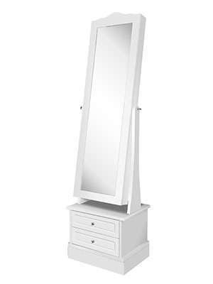 Amazon Com Luxury Stand Jewelry Armoire Set 72 Led Jewelry Cabinet With 2 Drawers Rotating Base 17w X 14d X 64h In White Home Improvement
