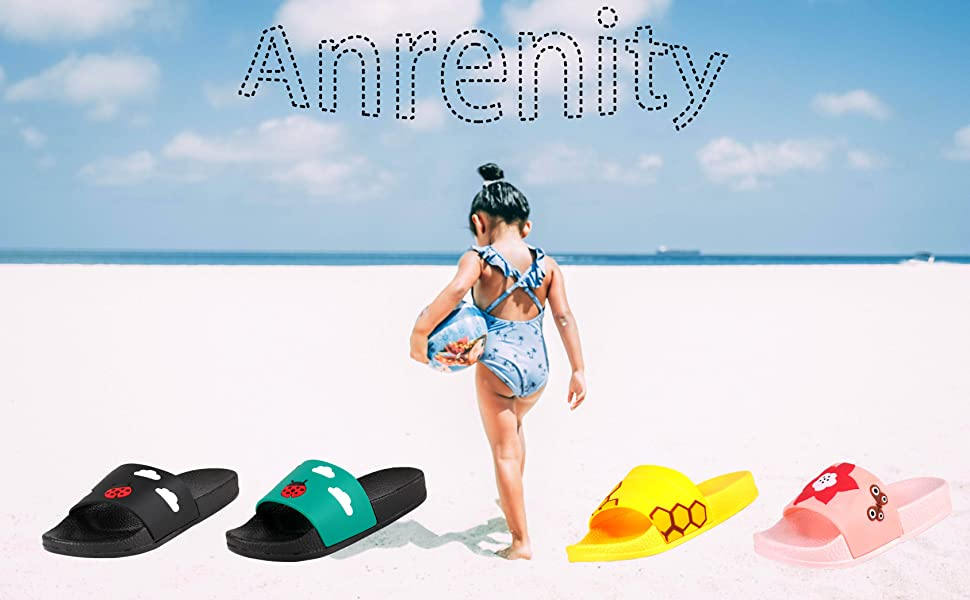 Kids Summer Slipper Ace of Spades House Slippers Shower Slide Anti-Slip Beach Pool Bath Sandals for Boys Girls