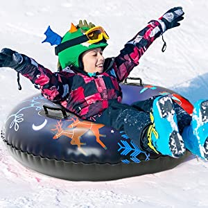 snow sleddin
