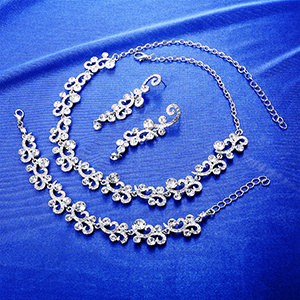 Earrings Necklace and Bracelet Set