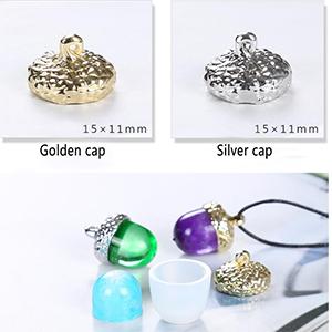 Silikon Schmuck Form Eichel Form /& goldene Perle Endkappe DIY Halskette