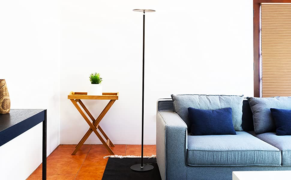 CONTEMPORARY STYLE & FUNCTIONAL CORNER, BEHIND THE COUCH LAMP