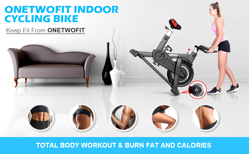 ONETWOFIT INDOOR CYCLING BIKE
