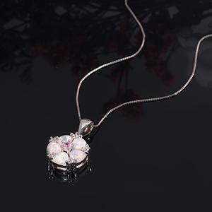 flower pendant necklace for girls