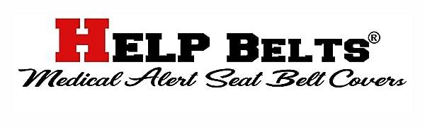 Help Belts Medical Alert Seat Belt Cover