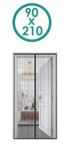 Fliegengitter Magnetvorhang f/ür T/üren Passt T/ürgr/ö/ße bis zu Wei/ß CHENG Fliegenvorhang terrassent/ür 70x185cm Magnet Insektenschutz T/ür Full Frame Klettverschluss