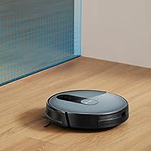 Proscenic 820S Robot Aspirapolvere con APP & Alexa, Grande Contenitore Polvere 600ml, Supporto del Serbatoio dell'Acqua, Rilevare dei Tappeti per Pulizia Domestica/Peli Animali/Capelli/Polvere-Verde