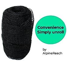 AlpineReach Koi Pond Netting Kit Convenience Simply Unroll