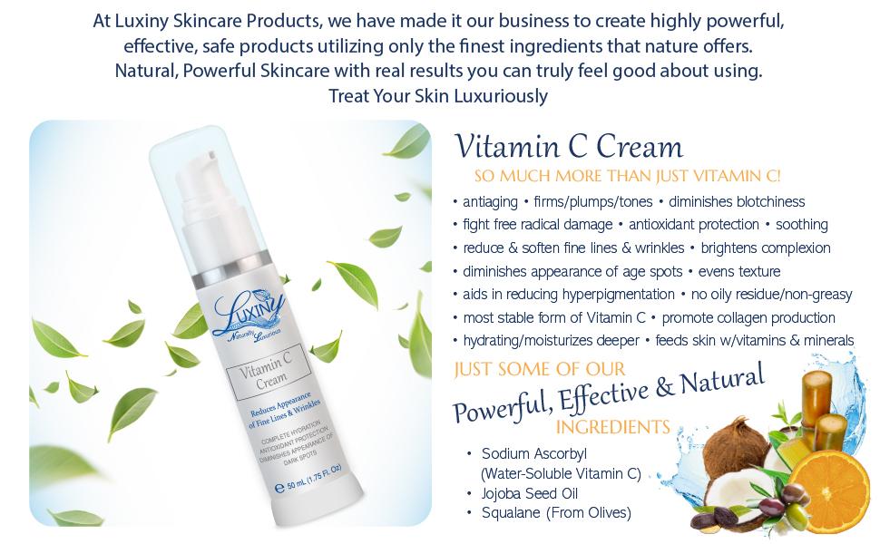 skincare vitamin c cream moisturizer lotion face care facial collagen vitamins antiaging antioxdant