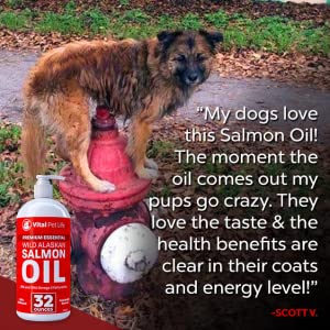 Wild Alaskan Salmon Oil for Dogs and Cats