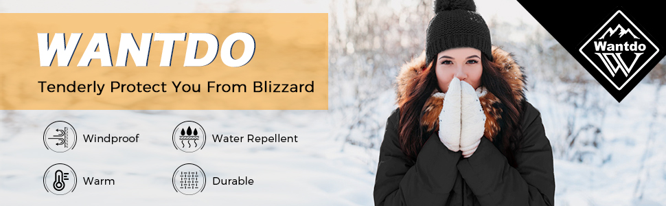 Wantdo Womens Classic Winter Coats