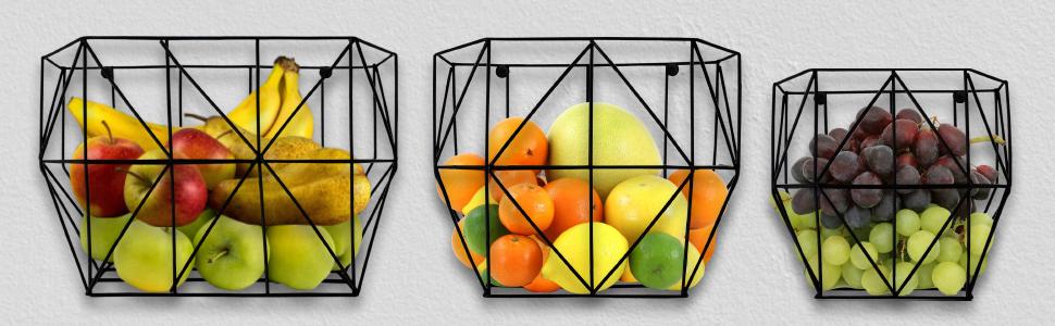 kitchen decor fruit basket wire basket fruit basket for kitchen metal hanging basket wall organizer